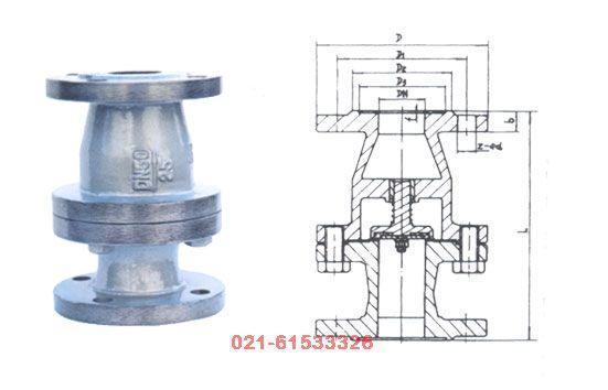 rh41f型燃气立式升降式止回阀图片