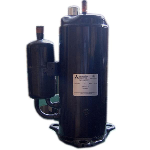原装压缩机,三菱 三洋 日立 凌达 松下 谷轮,东芝(美芝) 空调压缩机是在空调制冷剂回路中起压缩驱动制冷剂的作用。空调压缩机的工作回路中分蒸发区(低压区)和冷凝区(高压区)。空调的室内机和室外机分别属于高压或低压区(要看工作状态而定)。空调压缩机一般装在室外机中。空调压缩机把制冷剂从低压区抽取来经压缩后送到高压区冷却凝结,通过散热片散发出热量到空气中,制冷剂也从气态变成液态,压力升高。制冷剂再从高压区流向低压区,通过毛细管喷射到蒸发器中,压力骤降,液态制冷剂立即变成气态,通过散热片吸收空气中大量的热量。