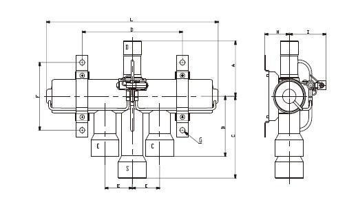 生产提供三花四通换向阀shf系列-四通阀-空调制冷大图片