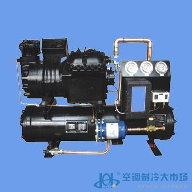 急冻库等冷库的制冷主机;    2,机组选用谷轮半封低温压缩机,配备内部