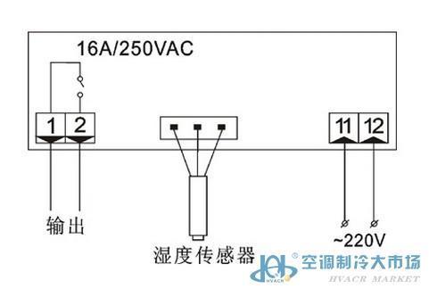 功能特点  湿度显示/湿度控制 开机/关机切换 进口湿敏电容传感器