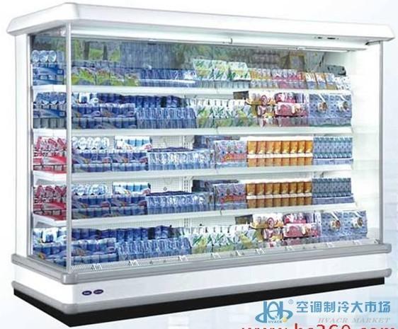 海尔冷藏展示柜风幕柜立式展示柜图片 高清大图