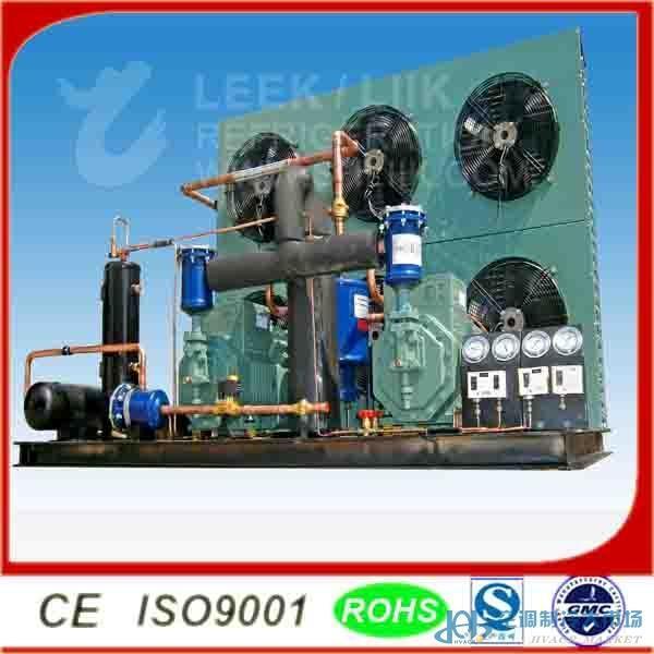上海一成LEEK品牌制冷机组 1、采用谷轮涡旋系列压缩机为制冷核心。 2、壳体采用防腐镀锌钢板有效的延长机组使用寿命。 3、安装时间减少百分之50;整体造价节省百分之30;安装方便、优美外形、不占地面面积 4、箱体式风冷机组内置优秀的L型冷凝器(欧洲工艺换热技术)设计是通风和冷凝效果更好,优质供应商制冷元件确保机组质量。 5、制冷可靠,高效节能 。可用于R22、R502、R404A、R507和R134a 半封闭、全封闭、比泽尔、美优乐、泰康、谷轮等大品牌机组均可订购 购买产品,请认准正宗LEEK品牌,以