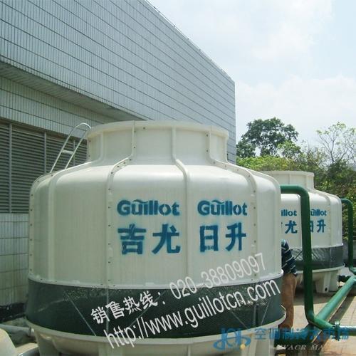 300冷吨圆形逆流式玻璃钢冷却塔