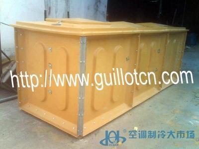 中央空调冷却塔配套玻璃钢水箱单体2立方水冷柜机