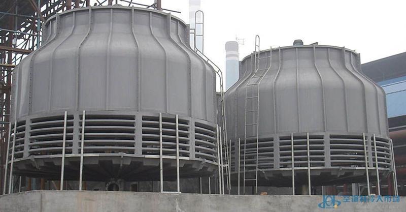 德州鑫泽工业型玻璃钢双曲线型闭式方型冷却塔工作
