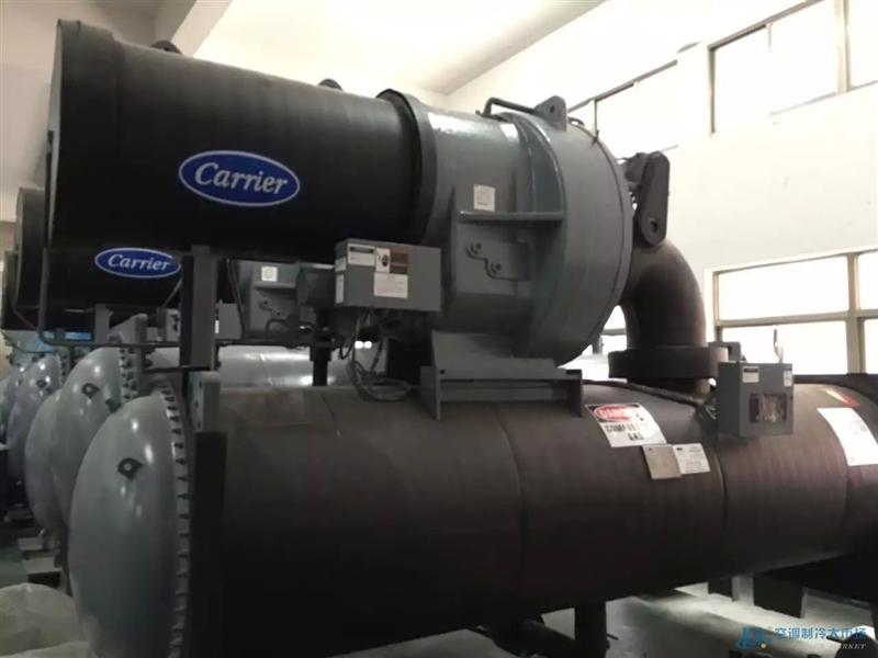 开利空调离心式压缩机机进水维修图片