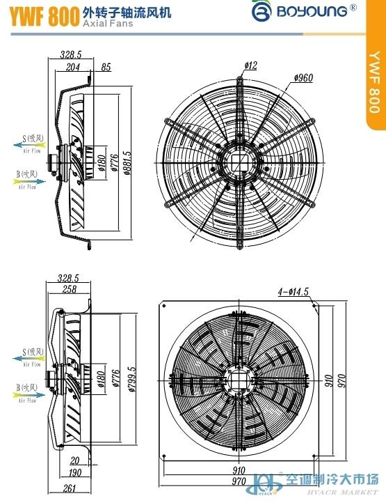 ywf800系列外转子轴流风机
