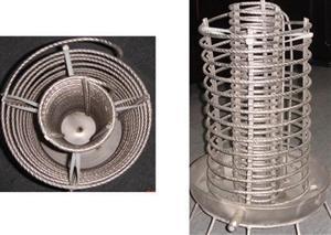 螺纹扰流强化换热双组盘管