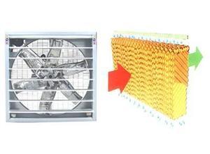 温室风机湿帘通风降温系统