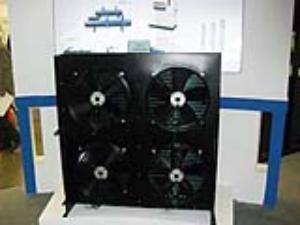 100平方立式四风扇冷凝器