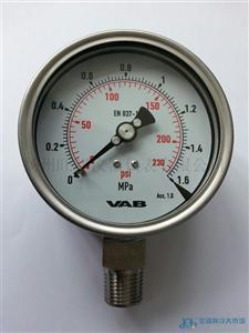 VAB全不锈钢压力表全系列