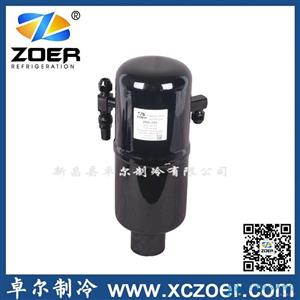 吕梁制冷空调配件冠亚立式储液器ZRA-103 黑色 冷却剂