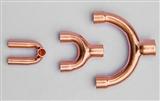 天狼紫铜三通空调制冷Y型三通紫铜管配件