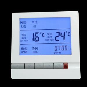 风机盘管中央空调液晶温控器三速机械调风量控制开关面