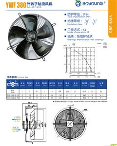 YWF380系列外转子轴流风机