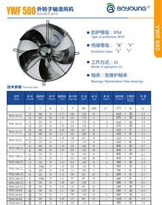 YWF500系列外转子轴流风机