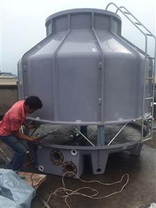 海南冷却塔药业设备降温冷却水塔风度150T圆形冷水塔