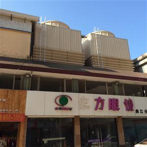 深圳冷水塔福田写字楼配套500T方形玻璃钢逆流式冷却水