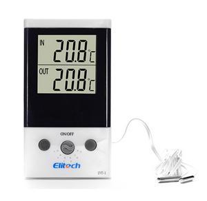 精创冰箱鱼缸家用电子室外温度计DT-1带探头双路测温高