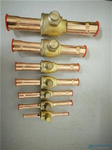 冷库空调制冷直通焊接铜球阀球形截止阀PKB-42/67mm