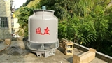 广州冷却塔生物科技专用25T逆流式圆形玻璃钢冷却水塔
