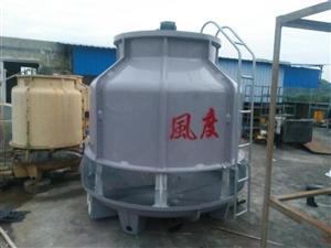 射出成型专用冷却水塔风度60T圆形玻璃钢冷却塔60吨逆