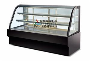 双弧形展示柜弧形后开门展示柜西点冷藏柜
