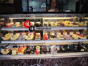 日式直角蛋糕柜双层蛋糕保鲜柜直角展示柜