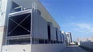 净化工程设备配套冷却塔风度100T横流方形冷却塔