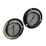 制冷机组冷媒压力表钛合金硅油高压低油压表1.8―3.8