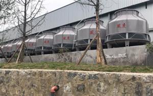 贵阳蔬果保鲜冷库风度100台150T圆形冷却塔