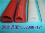 e型密封条 E型硅胶白色\红色密封条 耐高温硅橡胶胶