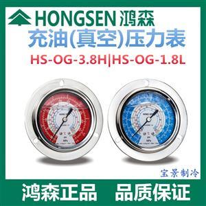 鸿森HS-OG-充油压力表 鸿森油表液压表水压表