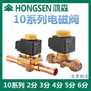 鸿森10系列电磁阀冷库空调热泵二通电磁阀 冷库电磁阀