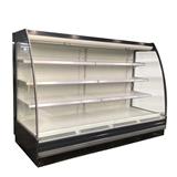 弧形饮料鲜奶水果蔬菜冷藏保鲜风幕柜