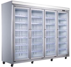 超市�料展示柜 五�T立式保�r冷藏冰柜 超市便利店冰箱