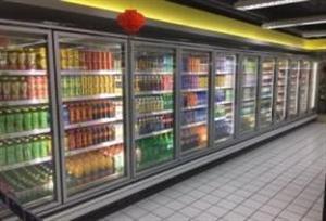 德尔曼冷冻玻璃门展示柜 (外机)