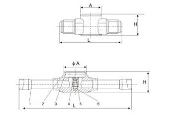 制冷空调配件 制冷机组设备 ZRJ系列视液镜 冷媒管路视