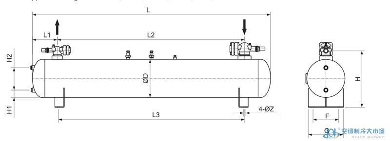 法斯克带证卧式储液器,FaSiKe,E2W-250L
