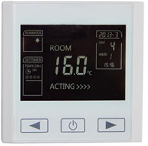 智能编程电采暖触摸式温控器