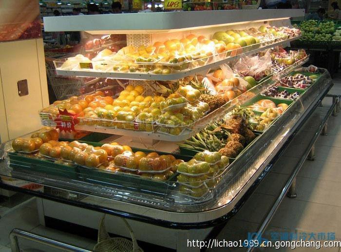 湖北超市风冷环型岛柜 蔬果保鲜柜