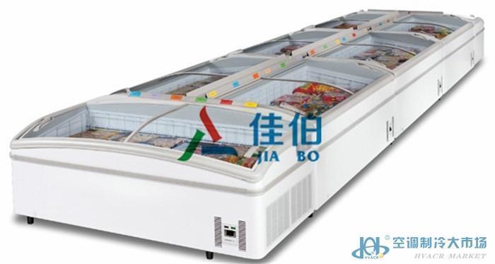 生鲜超市保鲜柜,新疆生鲜食品冷冻岛柜