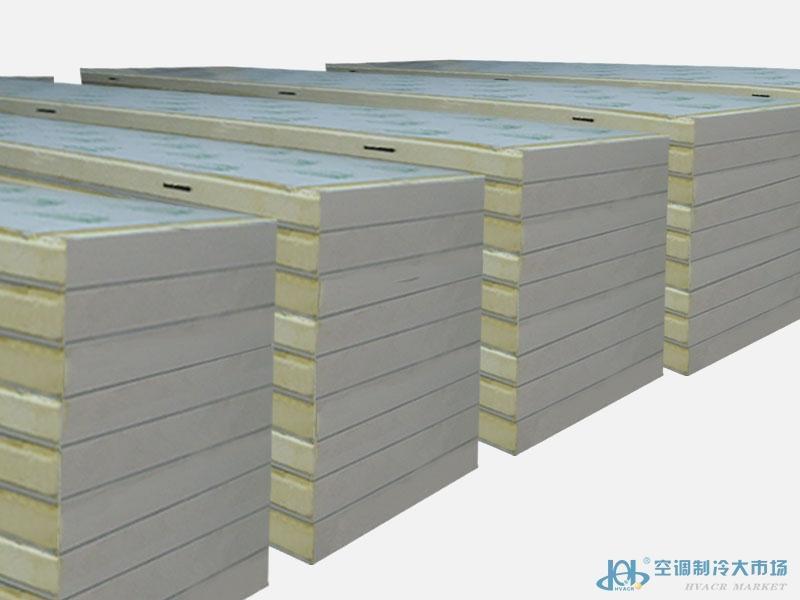 本溪辽阳鞍山B1级聚氨酯冷库板/外墙保温B1级聚氨酯保