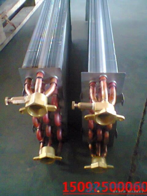 9.52直径铜管铝箔风机盘管表冷器、风机盘管、风盘