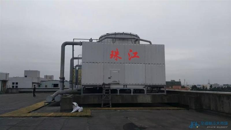 工业方形横流冷却塔