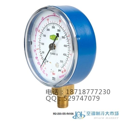 威科充氟表组用压力表头M2-250-DS-R22低压表