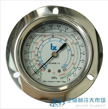 利雪轴向带油压力表1.8mpa