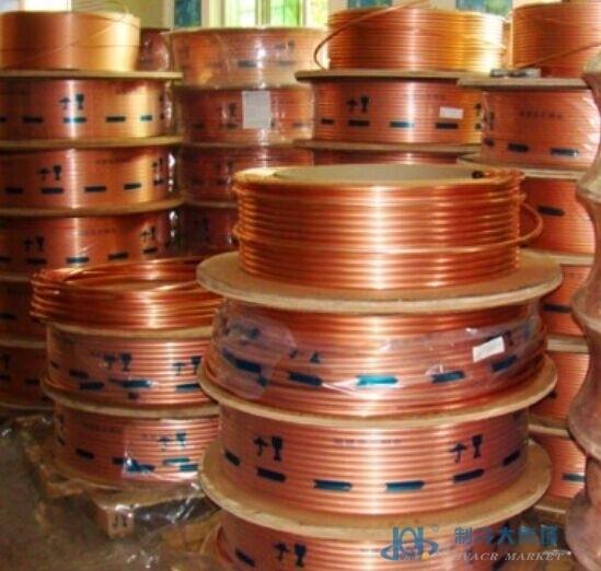 龙煜水平盘铜管 紫铜管脱脂铜管无油铜管制冷空调铜管