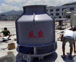 深圳冷却塔水冷空压机专用冷却水塔风度50吨玻璃钢圆形